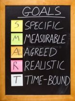 Specific, measurable, realistic and time-bound goals